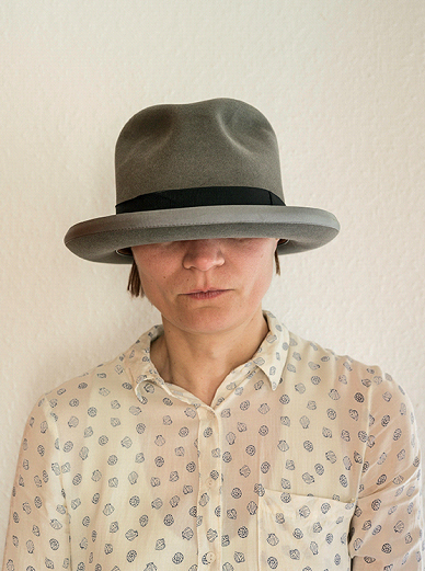 Elina Brotherus, The Hat Is Too Big, 2017, after Elina Brotherus, The Hat Is Too Big (The Joseph Beuys Hat), 2017, Archival pigment print, framed, 60 x 45 cm