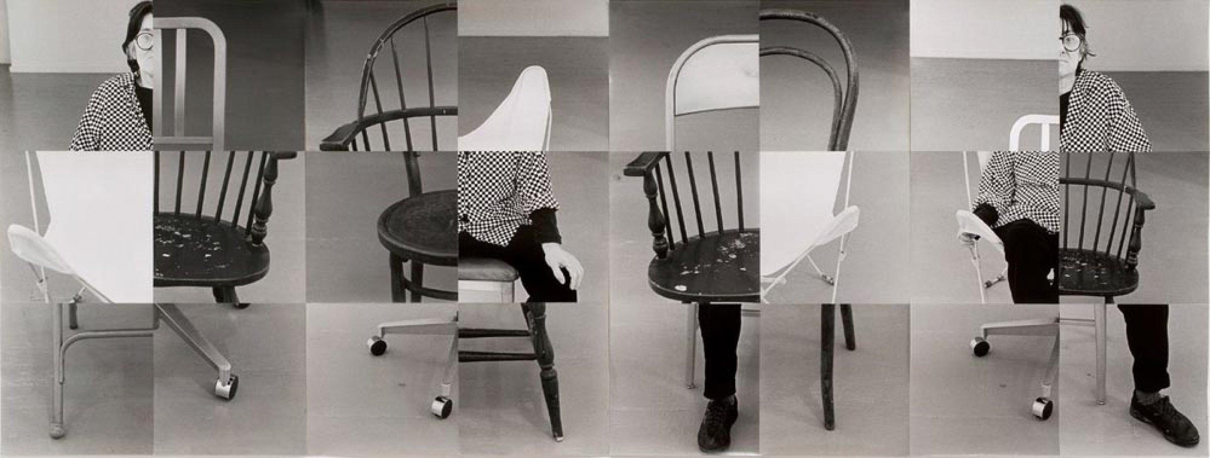 Susan Weil, Wandering Chairs, 1998, silver gelatin print, 113 × 302 cm. © S. Weil and C. Rauschenberg.